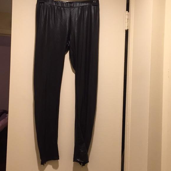 Tiffany Alana Pants - Tiffany Alana pleather leggings